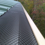"Leaf-Cover Made From Heavy-Gauge, Powder-Coated Steel Installed Inside 6"" K-Style Gutter"